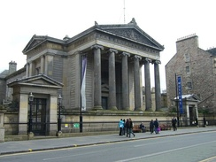 "Surgeons' Hall, one of the Greek Revival buildings that earned Edinburgh the nickname ""Athens of the North"""