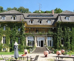 """Haus Tornow am See"" (former manor house), Germany from 1912 is today separated into a special education school and a hotel with integrated work/job- and rehabilitation-training for people with mental disorders"