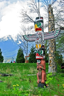 "Totem poles reflect the beliefs of the Indigenous peoples of the Pacific Northwest Coast; some religious studies scholars argue that the term ""religion"" is too Western-centric to encompass the beliefs and practices of communities such as these"