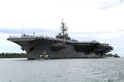 The aircraft carrier USS Kitty Hawk (CV-63) at Naval Station Pearl Harbor