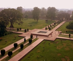Layout of the Charbagh at the Tomb of Jahangir in Lahore