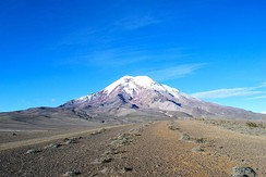 Chimborazo, Ecuador. The point on Earth's surface farthest from its centre.[39]