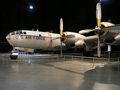WB-50D used for weather reconnaissance on display at the National Museum of the United States Air Force