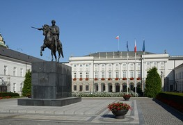 Presidential Palace, the seat of the Polish president