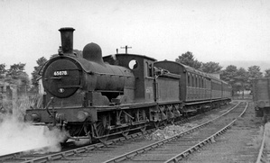 The last scheduled passenger train to Wearhead waits to leave Bishop Auckland on 27 June 1953, headed by ex-NER Class C1 No. 65078