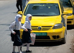 Palestinian girls in Nablus