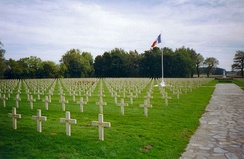 Graves of French soldiers who died on the Ypres Salient, Ypres Necropole National, Ypres, Belgium