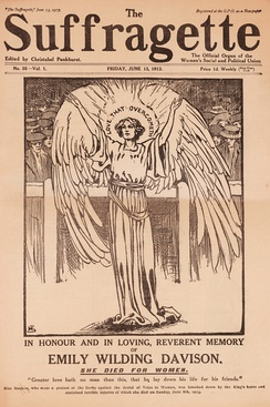 Memorial edition of The Suffragette newspaper dedicated to Emily Davison
