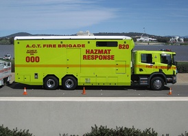 Hazmat response unit with the ACT Fire & Rescue Service in Canberra.