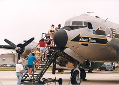 C-54 with visitors at the AMC museum