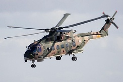 An AW101 helicopter
