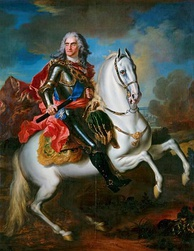 Augustus II the Strong, the first Saxon ruler of Poland. His death sparked the War of the Polish Succession.