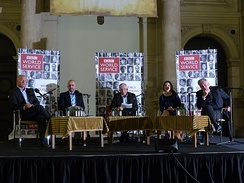 BBC World Service, with Jonathan Dimbleby broadcasting from Budapest