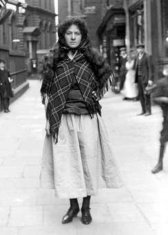 Ayrton dressed as Grace Darling to promote the WSPU Women's exhibition, in May 1909
