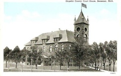 Gogebic County Courthouse circa 1920