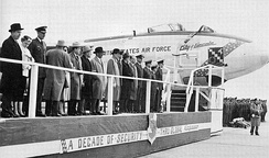 Dedication of first Boeing B-47 at Lincoln AFB