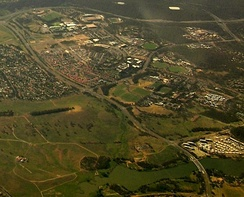 Aerial view from west