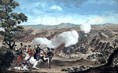 Colour print of the Battle of Minden, c. 1785