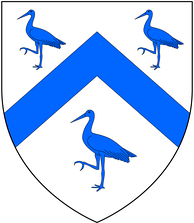Cranmer's paternal canting arms: Argent, a chevron between three cranes azure.[3]