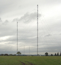 Masts at the Droitwich transmitting station