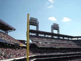 One of two foul poles at Citizens Bank Park, Philadelphia.