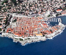 The historic core of the city of Dubrovnik, in southern Dalmatia