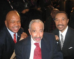 Mitchell with Kweisi Mfume and Elijah Cummings in January 2007