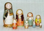 The first Russian matryoshka doll  (carved by Zvyozdochkin), 1890