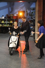Harry Connick Junior and Renée Zellweger at the Rachael Ray show, January 30, 2009