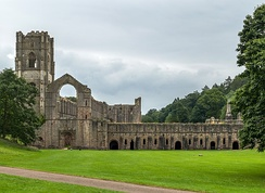 Fountains abbey from the west