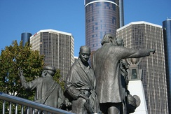 The Gateway to Freedom International Memorial to the Underground Railroad in Philip A. Hart Plaza.