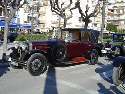 1925 Hispano-Suiza Type H.6 with collapsible rear compartment roof, also called a Landaulet