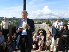 Barry McGovern Reading from Ulysses on top of James Joyce Tower and Museum, 16 June 2009