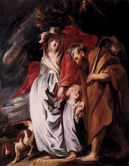 The Return of the Holy Family from Egypt by Jacob Jordaens (c. 1616)