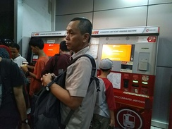 Ticket machines for Kereta Commuter Indonesia