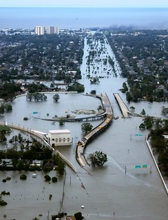 The draining and development of coastal wetlands that previously protected the Gulf Coast contributed to severe flooding in New Orleans, Louisiana in the aftermath of Hurricane Katrina.[34]