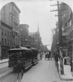 Initially a horse-drawn system, Toronto's streetcar system eventually transitioned to electric-powered streetcars in 1892.