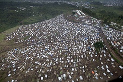 Refugee camp in the Democratic Republic of Congo, 2013