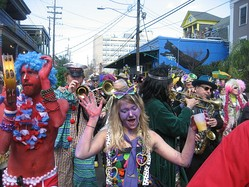 Mardi Gras is celebrated in New Orleans.