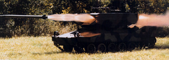 LOSAT launch from M8 Armored Gun System chassis.