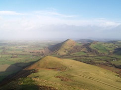 View of the Lawley hill (looking north) from the top of Caer Caradoc