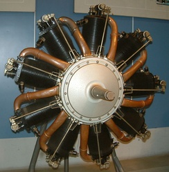 Le Rhone 9C rotary aircraft engine