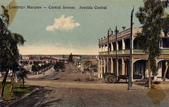 View of the Central Avenue in Lourenço Marques, now Maputo, ca. 1905;