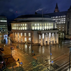 Manchester Central Library at Night