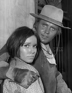 Guest star Barbara Hershey and Mark Slade (Blue Boy)