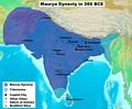 Maurya Empire of India at its greatest extent under Ashoka the Great