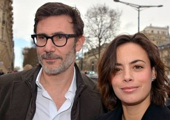 Hazanavicius with his wife Bérénice Bejo.
