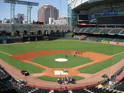 Wide shot of Minute Maid Park