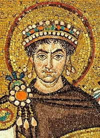 Justinian I (left) was the first Eastern Emperor to attempt to reconquer the territories of the Western Roman Empire, undertaking successful campaigns in Africa and Italy in the 500s. Manuel I Komnenos (right) was the last, campaigning in southern Italy in the 1150s.
