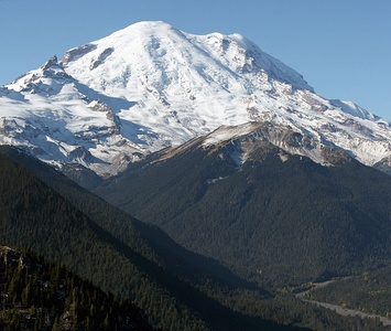 Mount Rainier is the highest summit of Washington and the Cascade Range.